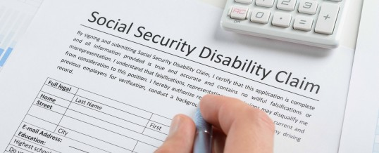 Social security disability claim forms