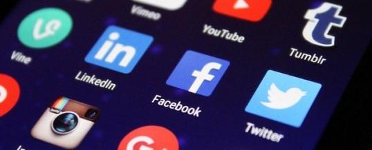 closeup of social media apps on a phone