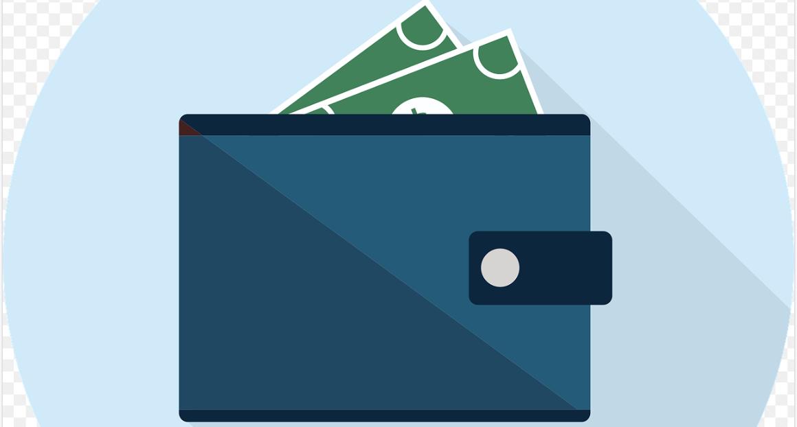 wallet with money bills