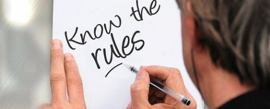 Know the rules written on a paper