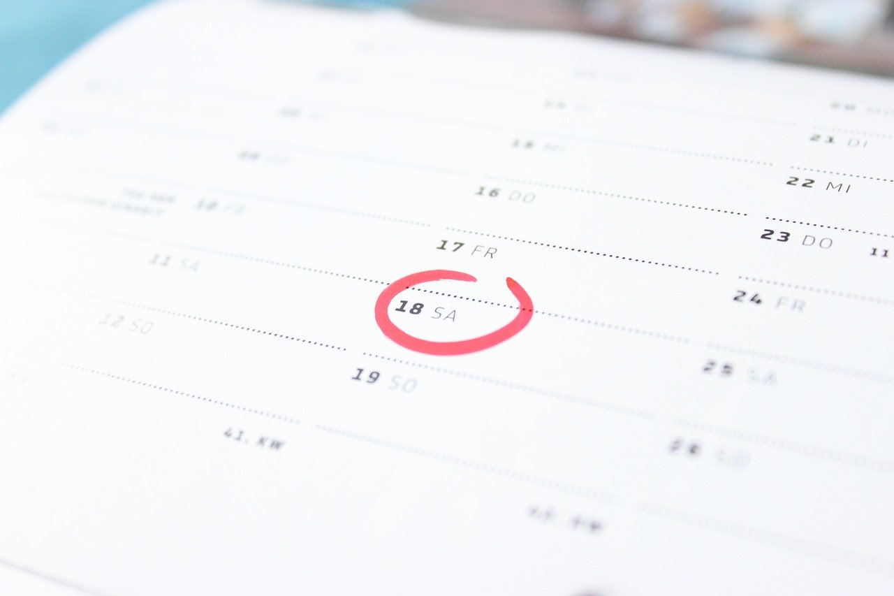 Circled an important date on a calendar
